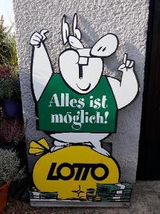 Veliká stará reklamní cedule Lotto, Rakousko