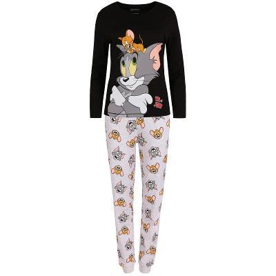 Dámské šedočerné pyžamo Tom a Jerry, vel.M