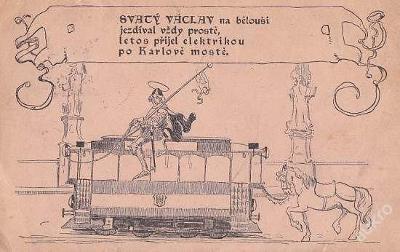 J. ŠVÁB - Č. 222 - SV. VÁCLAV NA TRAMVAJI -26-EX82