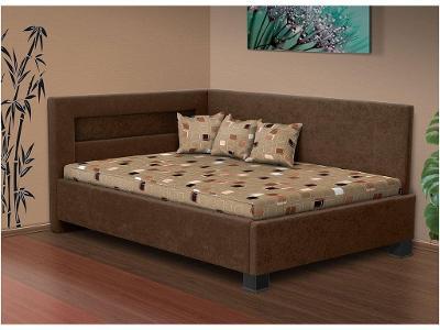 Čalouněná postel s LED světlem Mia Robin 200x140 cm - Česká výroba