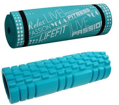 Lifefit A11 45x14cm + Lifefit yoga plus tyrkysová