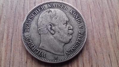 Německo stříbro 2 marka Wilhelm I. 1876 A