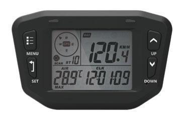 Profesionální GPS měřič motohodin, rychlosti, teploty, tachometr, napě