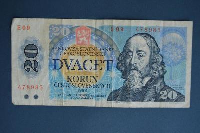 Československo 20 Kčs – 1988
