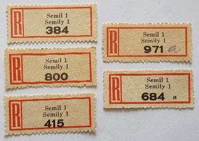 35/ R-nálepky Protektorátu Č+M = 5 ks