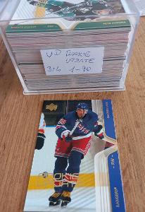 Kompletní set karet UD rookie update 2003/2004 (90 karet)