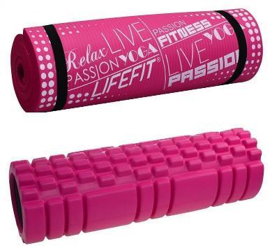 Lifefit A11 45x14cm + Lifefit yoga plus růžová
