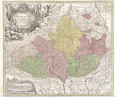 Seutter, Moravia,  mědiryt, 1740