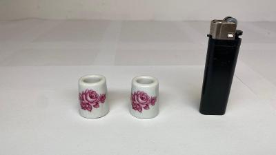 2x mini porcelánový svícen na malé svíčky. Made in Germany