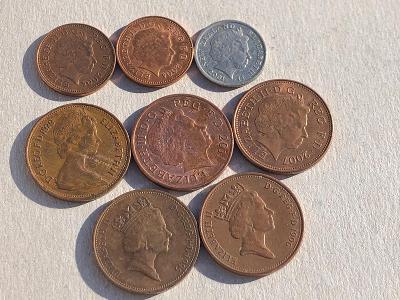 Mince Elizabeth II Různé hlavy… od korunky 🌹