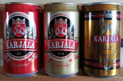 3 starší pivní plechovky Karjala Finsko