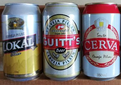 3 starší pivní plechovky Brazílie