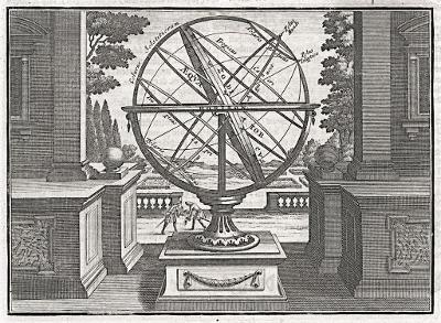 Armilar, Florinus, mědiryt, 1750