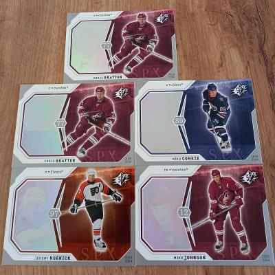 Lot karet NHL - UD Spx 03/04 (5 karet)