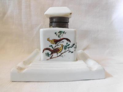 Starý malovaný porcelánový kalamář