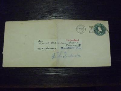 USA 1907 celinová obálka do Švýcarska