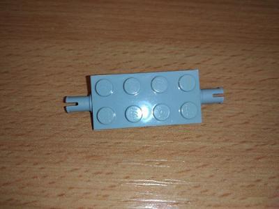 Lego díl 30157 - část podvozku, šedá