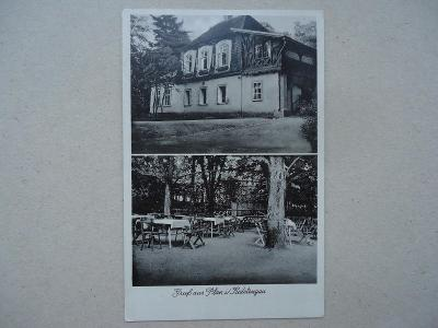 Gruss aus Plan i/  Sudetengau....Café Restaurant  -  Stadtpark....1940