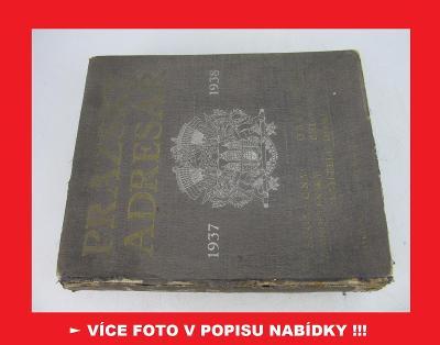 PRAŽSKÝ ADRESÁŘ 1937-1938 - Praha adresář osob - RARITA