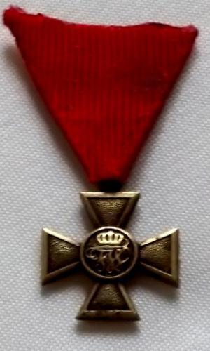 Kříž s Monogramem Císaře 1.Světová Válka 1914-1918 bronz