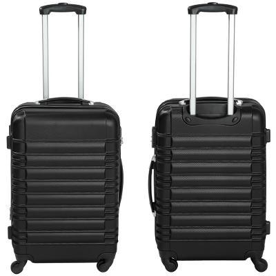 tectake 402024 skořepinové cestovní kufry sada 4ks - černá