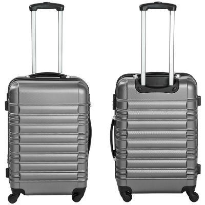 tectake 402025 skořepinové cestovní kufry sada 4ks - šedá