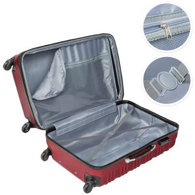 tectake 402026 skořepinové cestovní kufry sada 4ks - vínová