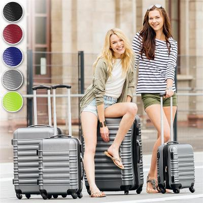 tectake 402028 skořepinové cestovní kufry sada 4ks - zelená