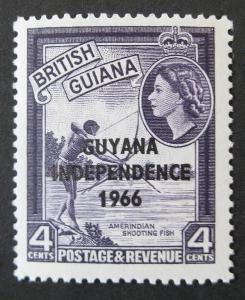 Guyana ** - vodoznak tiskací CA, 1966-67
