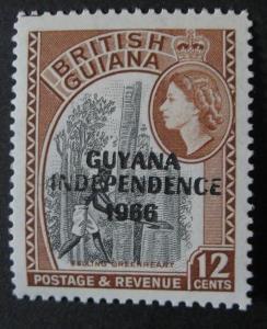 Guyana ** - vodoznak psací CA, 1967