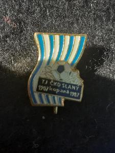 Odznak TJ ČKD SLANÝ KOPANÁ,  výroční 80 let 1907 - 1987