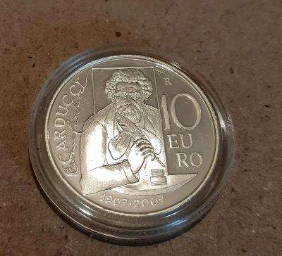 10 Euro San Marino 2007 PROOF stříbro náklad jen 14 615 Ks KM 475
