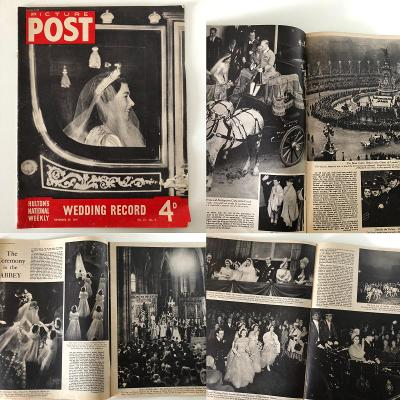 ROYAL WEDDING Princess Elizabeth DukeOf Edinburgh 1947 Čti Popis Aukce