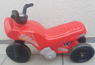 červená motorka Carousel - odrážedlo