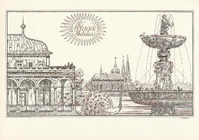 Pohlednice Herčík Josef - 1990 Belveder