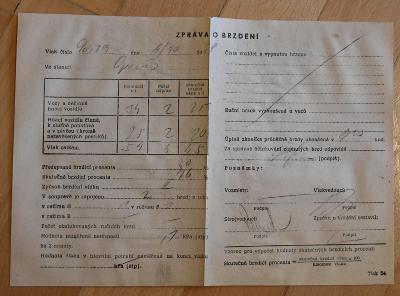 Zpráva o brzdění z roku 1978