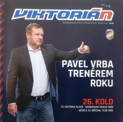 fotbalový program Viktoria Plzeň - Bohemians 1905 (2019)