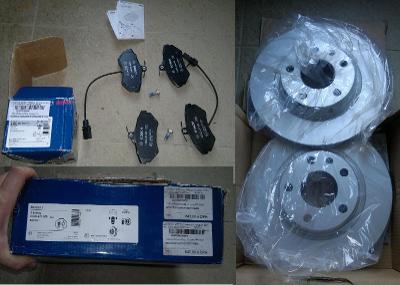 Přední brzdové kotouče a destičky Passat b5