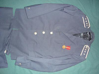 Letecká uniforma ČSLA sako + kalhoty, výborná zachovalost, bez poškoze