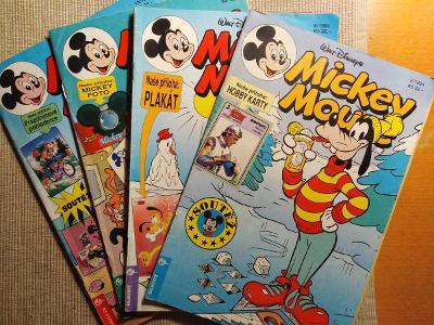 Mickey Maus, komiksy, 1994, 4 kus.