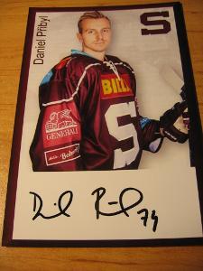 Daniel Přibyl - Sparta Praha - orig. autogram