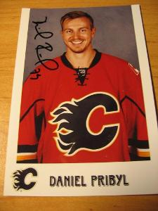 Daniel Přibyl - Calgary Flames - orig. autogram