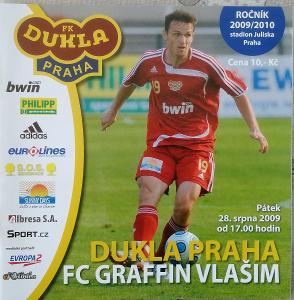 fotbalový program  Dukla Praha - Graffin Vlašim (2009)