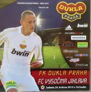 fotbalový program  Dukla Praha - Vysočina Jihlava (2010)
