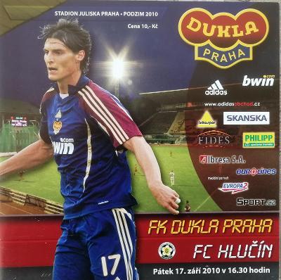fotbalový program Dukla Praha - FC Hlučín (2010)