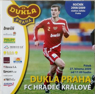 fotbalový program Dukla Praha - FC Hradec Králové (2009)