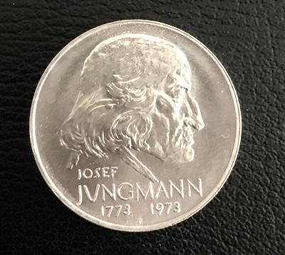 Stříbrná mince 50Kčs PROOF 1973 - JOSEF JUNGMANN,Perfektní stav