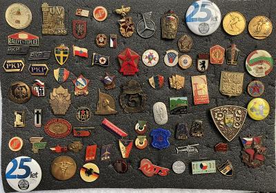konvolut sbírka odznaků vojsko podniky ksč