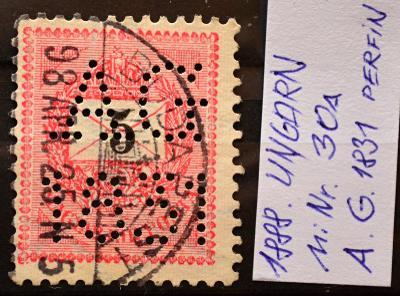 Perfin-Rakousko-Uhersko, 1888. MiNr. 30a / KT-397