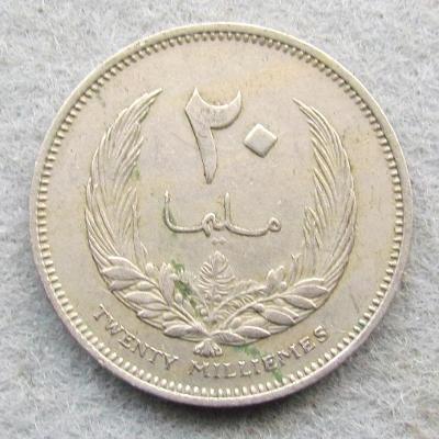 Libye 20 milémů 1960
